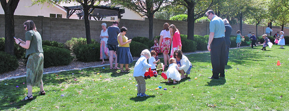 Kids at an Easter Egg Hunt